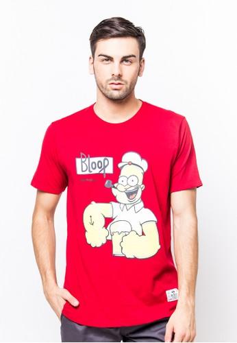 Bloop Tshirt Wl Duff Red BLP-PF051