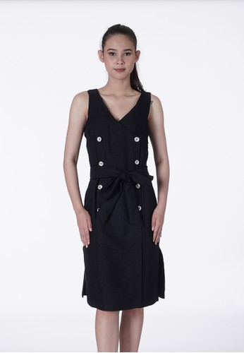 United Concepts black Double Breasted 'Lucia' Dress C1AA5AA78DAD1CGS_1