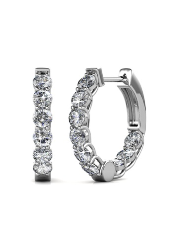 Her Jewellery silver Elysian Clip Earrings -  Made with premium grade crystals from Austria 30E2DAC8DE6D23GS_1