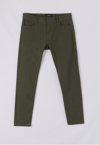 Terranova green 5-Pocket Skinny Trousers 23FC8AA1226C81GS_1