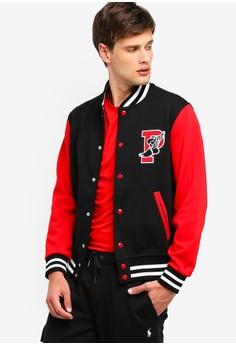 52a0823eb Polo Ralph Lauren black Long Sleeve Double Knit Baseball Jacket  4F5ADAA7817AA0GS_1