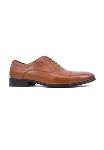 Hanson Bootmaker brown Hanson Bootmaker Laceup Oxford With Toe Cap- Tan F202CSHC08D664GS_1