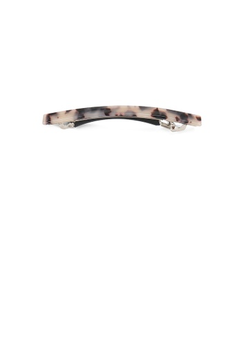 Glamorousky brown Simple and Fashion Light Tortoiseshell Pattern Geometric Hair Clip 407E2AC5287EF0GS_1