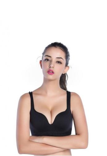 Womens Fitness Wirefree Seamless Padded Push Up Bra