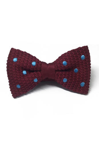 Splice Cufflinks red Webbed Series Baby Blue Polka Dots Maroon Red Knitted Bow Tie SP744AC91UBGSG_1
