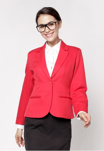 Nicole Exclusives red Classic Blazer AE1D2AAF5A6B4FGS_1