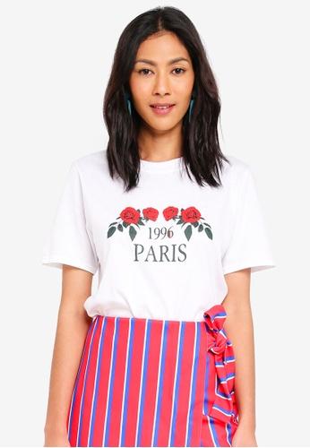 MISSGUIDED white 1996 Paris Tshirt 52A95AA672E22DGS_1