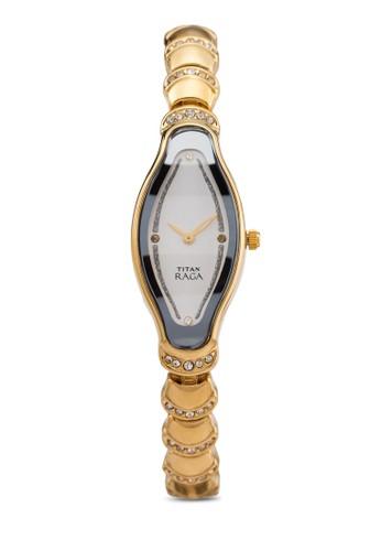 Titan 2395YM01 esprit手錶專櫃雙指針水鑽時尚手錶, 錶類, 時尚型