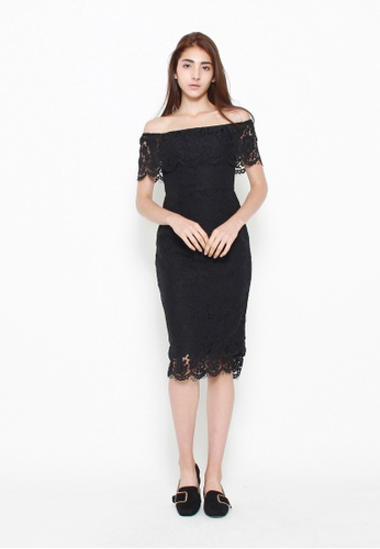 QLOTHE Maya Off-shoulder Lace Dress 2262FAABAEFEF4GS_1