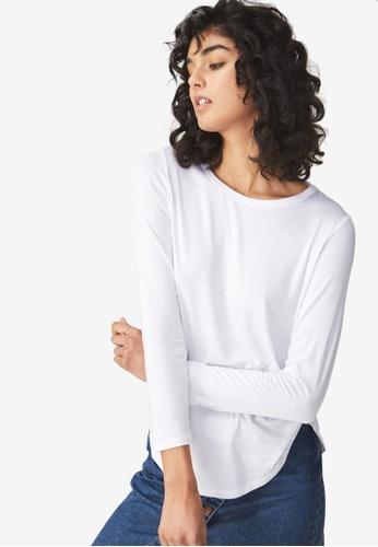 Cotton On white Kathleen Long Sleeve Top 9D12BAA91FAE6CGS_1
