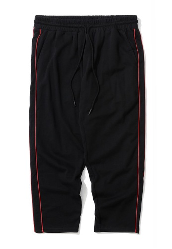 Fivecm black Piped tape joggers 38F47AA2F48909GS_1