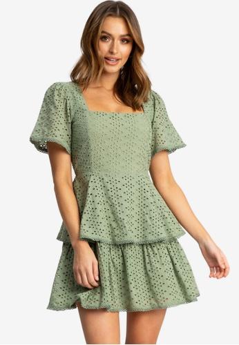 The Fated green Intertwined Mini Dress 6BF66AA9C699FCGS_1