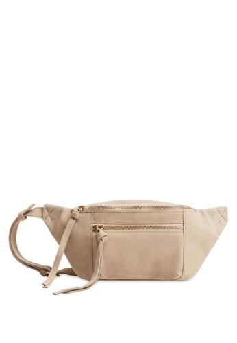 Mango brown Suede Belt Bag A9D1AAC4D405EDGS_1