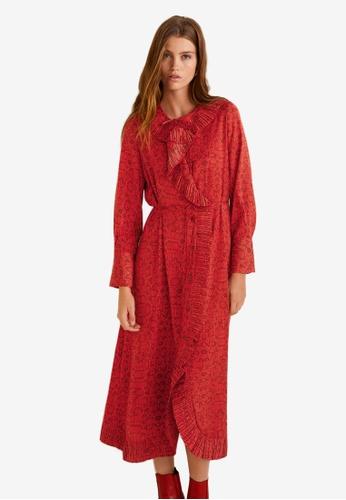 Mango red Snake Print Gown 48B1EAAFA68E6BGS_1