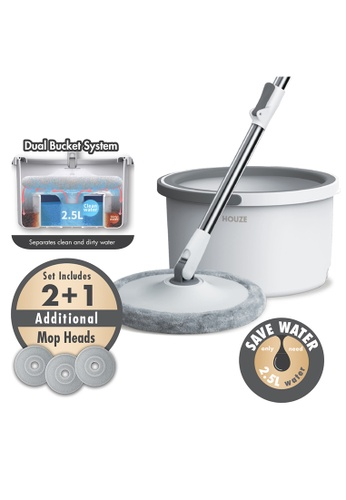 HOUZE grey HOUZE - The Clean Water Spin Mop 12A7BHL5ACE36AGS_1