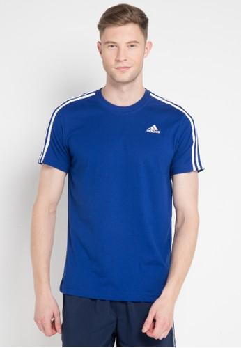 adidas blue adidas essentials classics 3-stripes tee BA682AA4009B2EGS_1