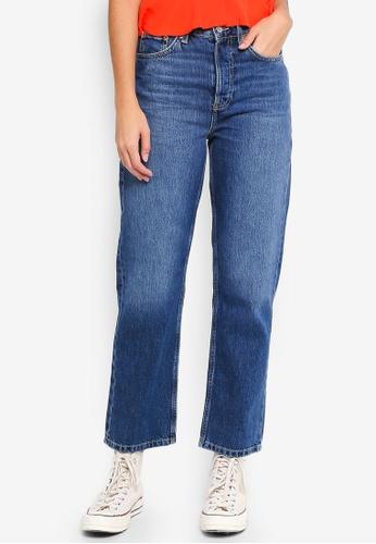 TOPSHOP 藍色 Moto Dark Blue New Boyfriend Jeans 98A22AA793BB7FGS_1