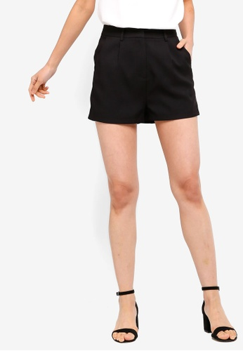 ZALORA BASICS black Basic Tailored Shorts 5DE6FAAB809D65GS_1