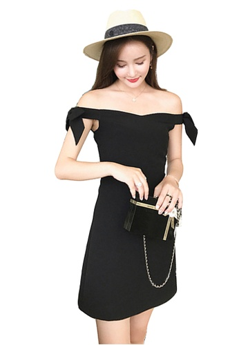 Sunnydaysweety black 2017 New Black Off Shoulder One Piece Mini Dress A072414BK SU219AA0F4NPSG_1