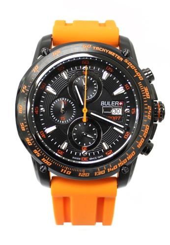 Buler black and orange Buler Sport Watch - Black - Gents - Date - 6H A7B33AC0B8DD52GS_1