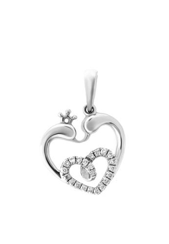 GOLDHEART gold GOLDHEART Coruscant Heart with Lustrous Vibes Pendant, Diamond White Gold 750 (P5288) 094C3ACEA01596GS_1