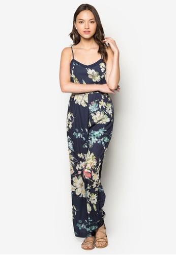 碎花細肩帶連zalora taiwan 時尚購物網鞋子身長褲, 服飾, 服飾