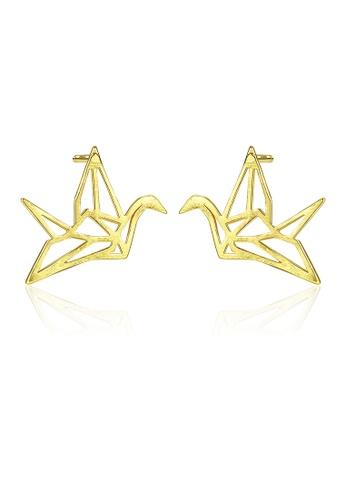 SUNRAIS gold High quality Silver S925 gold fashion earrings C4CCBACD6B0666GS_1