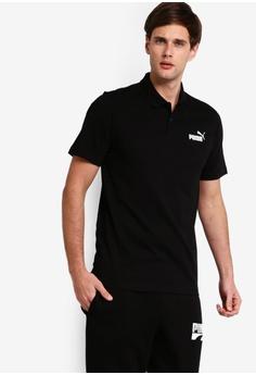 e232b0029a8 Puma black Sportstyle Core Essential Jersey Polo Shirt 8F820AA66F644BGS_1