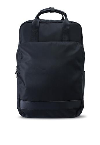 Bagstationz black Nylon Top Handle Backpack D2F73AC2F756B1GS_1