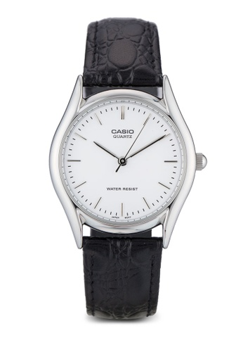 Casio multi Casio Men's Black Leather Strap Watch CA843AC30XYBMY_1