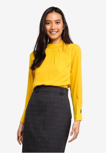 1b45afcee047c1 Dorothy Perkins yellow Petite Yellow 'Rosie' Top D02DFAA16FEA0EGS_1