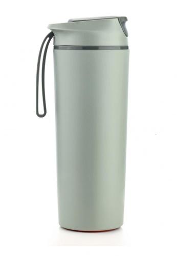 Artiart green Rhino Suction Bottle (Green) Design By ArtiArt 9D85BHLBD8020EGS_1