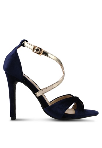 DMK blue and navy Crossed Strappy Heels 5B8F4SH2C6CD2AGS_1