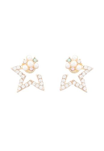 Red's Revenge gold Half Star Stud Earrings RE144AC0RRUTMY_1