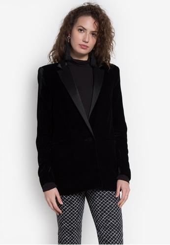 Mango black Velvet Blazer MA134AA0JZRRPH_1