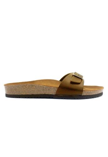 SoleSimple brown Lyon - Camel Leather Sandals & Flip Flops CC4A8SH2BCCB07GS_1