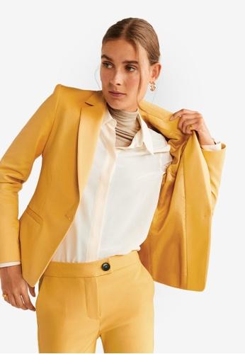 Mango yellow Essential Structured Blazer 07C8CAA56078E3GS_1