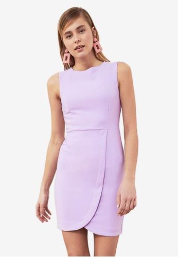 Trendyol purple Sleeveless Tulip Dress 6C6B0AA859FD6BGS_1