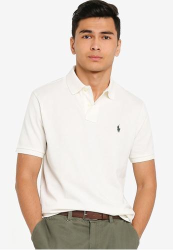 Polo Ralph Lauren white Short Sleeve Custom Slim Fit Polo Shirt - Basic Mesh 139C9AA9596045GS_1