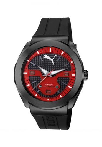 Puma black PU103931002 Roadster Black Red PU Strap Men Watch PU549AC0SJ8CMY_1