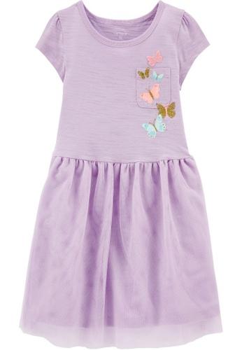 Carter's CARTER'S GirlPurple Pocket Butterfly Jersey Tutu Dress 78D96KA7DA3B1BGS_1