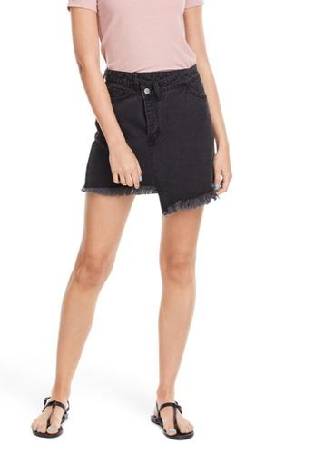 6IXTY8IGHT grey Mid-Waist Denim Skirt SK08339 327BBAAA586E19GS_1