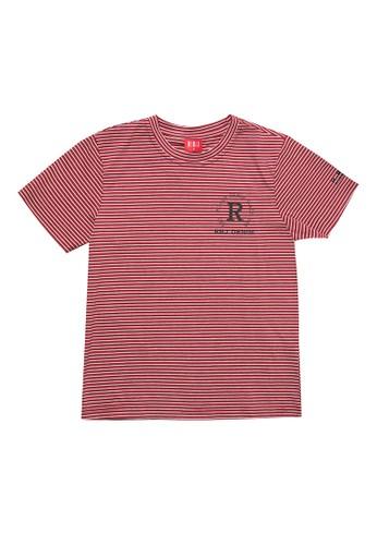 RBJ red Stripe Pattern Fashion Tee Kids 0C696KAB588E3EGS_1