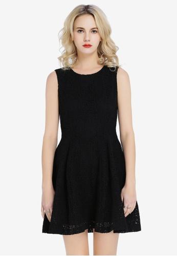 Hopeshow black Knitted Sleeveless Dress 8A401AA0977CA9GS_1