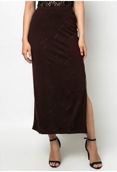 Glittered Maxi Skirt