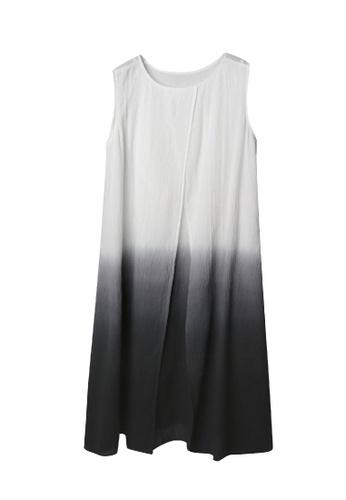 Giordano Ladies multi 2-Way Layering Dip-Dye Wrinkle Dress CDE84AA8140AA2GS_1