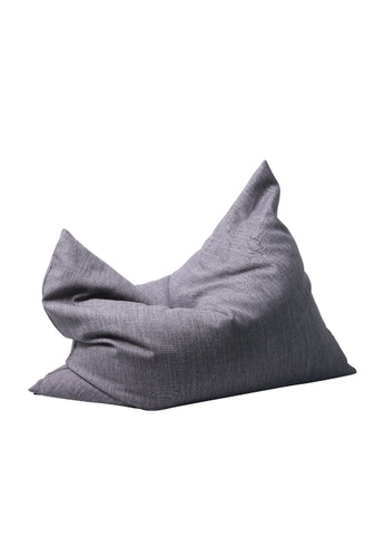 SoftRock grey VESUVIUS – Linen-Style Upholstery and Synthetic Suede Versatile SoftRock Bean Bag (Granite) 3707FHL195DADAGS_1