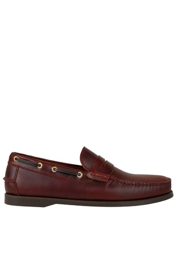 Tomaz red Tomaz C329 Leather Penny Loafers (Wine)  202E5SHC2AF9E5GS_1