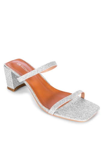 LND silver Sarah Heeled Open Shoes EE0CFSH7537333GS_1