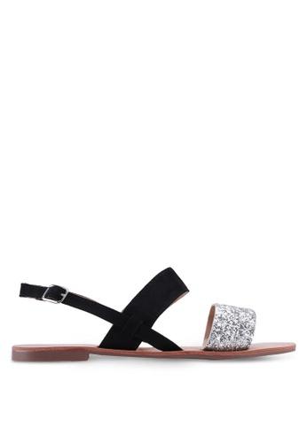 Dorothy Perkins black Widefit Black Francine Sandals 0D39ASH9C0B221GS_1